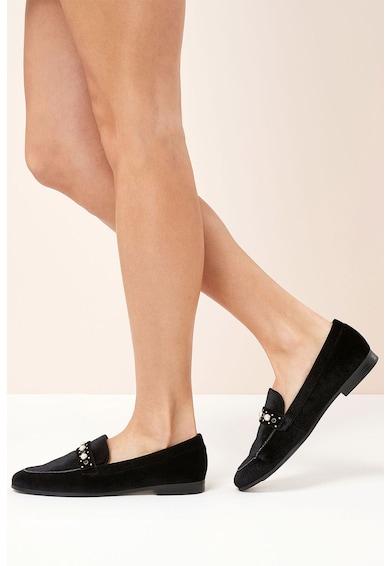 NEXT Pantofi slip-on catifelati cu aplicatii cu margele Femei