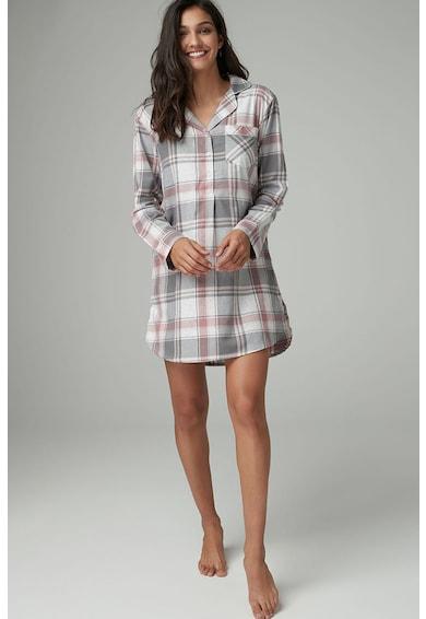 nuante de vânzător en-gros nou ridicat Camasa de noapte in carouri cu nasturi NEXT (580928-GREY ...