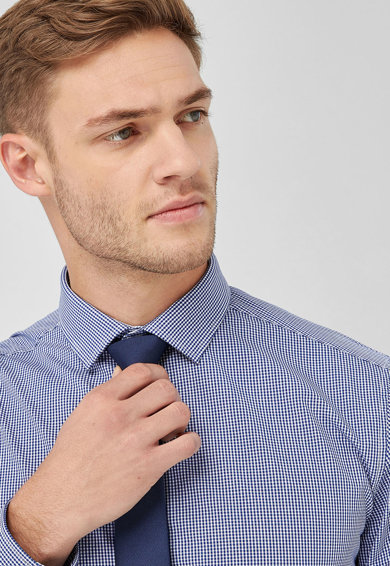 NEXT Карирана риза и вратовръзка Мъже