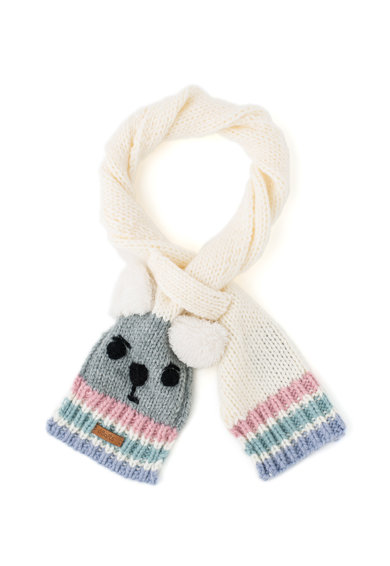 Barts Fular tricotat cu model urs Fete