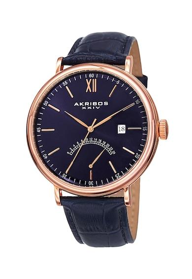 AKRIBOS XXIV Часовник с кожена каишка 24 Мъже