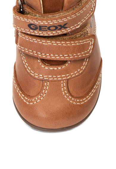 Geox Pantofi cu inchidere cu velcro, de piele Kaytan Baieti