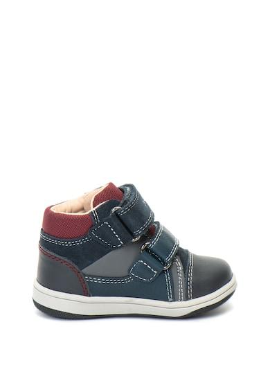 Geox Pantofi sport mid-high cu insertii de piele intoarsa Flick Baieti