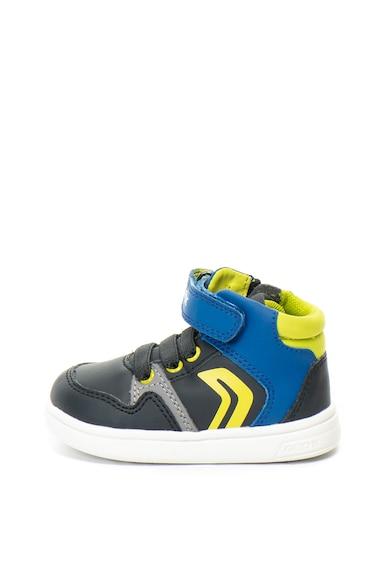 Geox Pantofi sport de piele ecologica DJRock Baieti