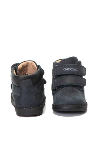 Geox Ghete de piele nabuc, impermeabile Hynde Baieti