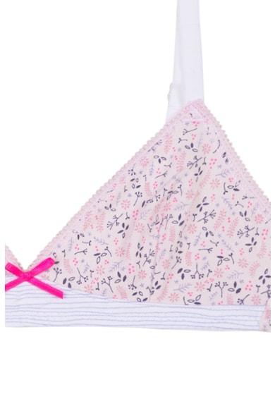 Absorba Sutien cu cupe triunghiulare si imprimeu Fete