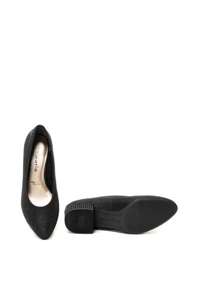 Tamaris Pantofi cu toc masiv si aspect lucios Femei