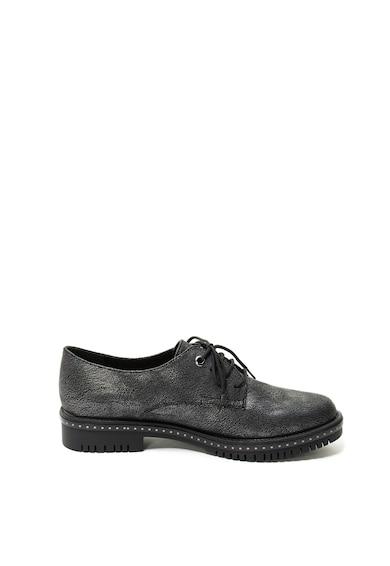 Tamaris Pantofi de piele ecologica, cu aspect metalizat Femei