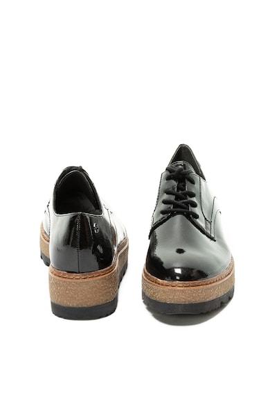 Tamaris Pantofi derby de piele ecologica cu talpa wedge Femei