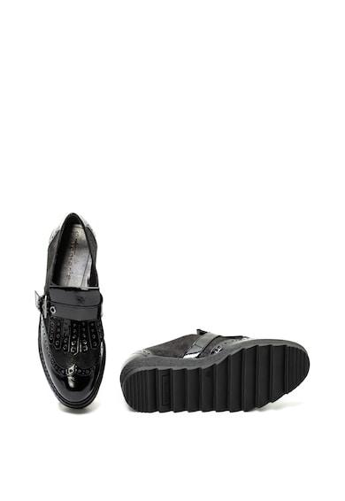 Tamaris Telitalpú cipő lakkozott betétekkel női