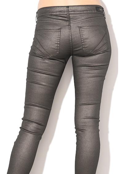 Pepe Jeans London Pixie szűkülő nadrág fémes megjelenéssel női