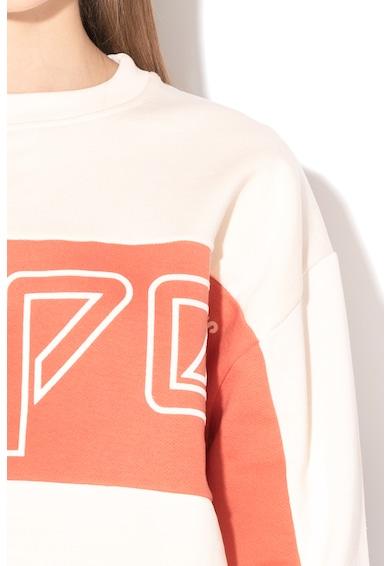 Pepe Jeans London Pwepe Jeans London, Gracy logómintás pulóver polárbéléssel női