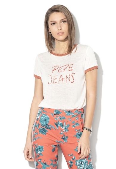 Pepe Jeans London Тениска Caitlin с мъниста Жени