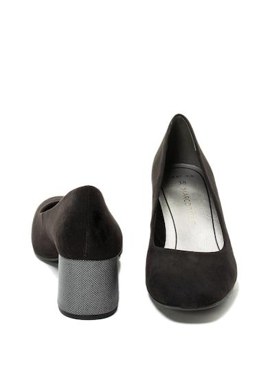 Marco Tozzi Pantofi de piele intoarsa ecologica cu toc masiv Femei
