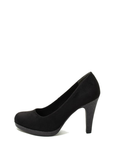 Marco Tozzi Pantofi de piele intoarsa ecologica cu aspect stralucitor Femei