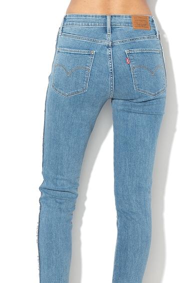 Levi's Blugi skinny cu talie inalta si garnituri tubulare laterale cu logo 721 Femei