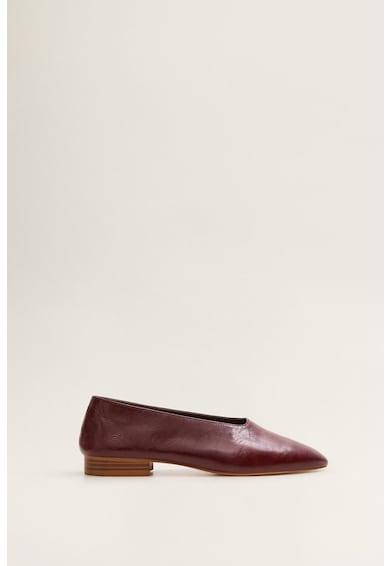 Mango Pantofi de piele cu varf ascutit Paco Femei