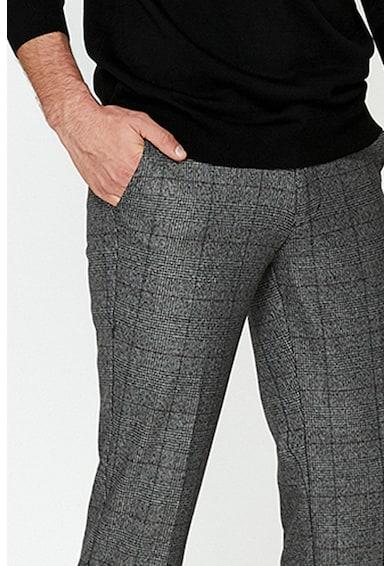 KOTON Pantaloni slim fit eleganti cu model in carouri Barbati