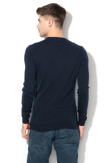 Wrangler Gyapjútartalmú logómintás pulóver férfi