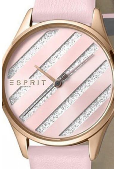 Esprit Овален часовник с кожена каишка Жени
