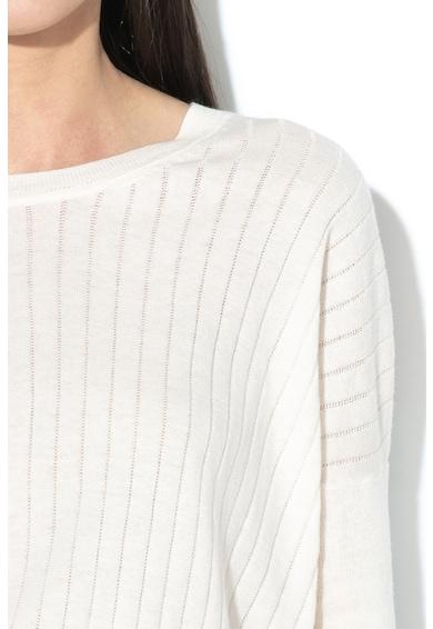 Pepe Jeans London Ilse bordázott pamut- és selyemtartalmú pulóver női