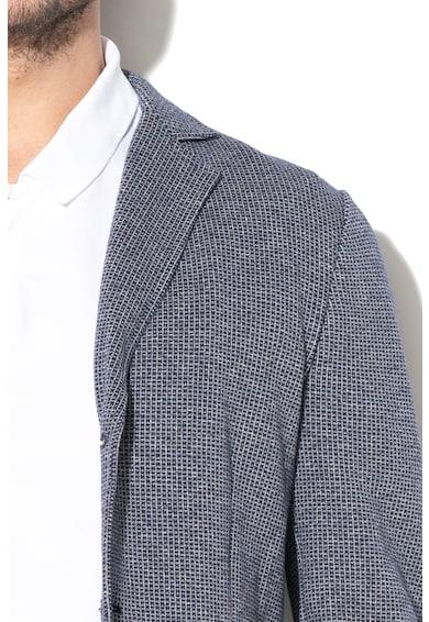 United Colors of Benetton Geometriai mintás slim fit zakó férfi