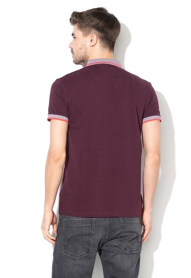 Esprit EDC by  Regular fit galléros póló kontrasztos szegélyekkel férfi
