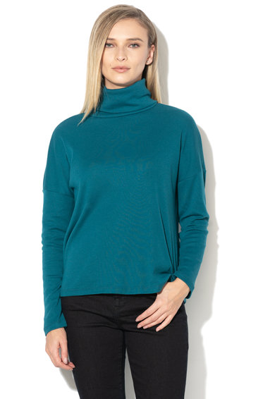 Esprit Bluza lejera cu guler inalt si terminatie asimetrica Femei