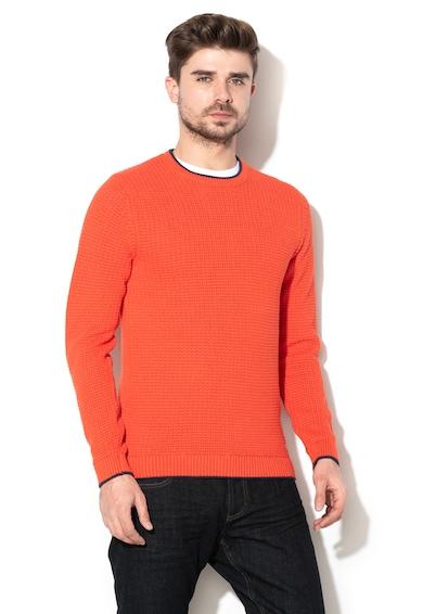 Esprit Kötött pulóver logóval férfi
