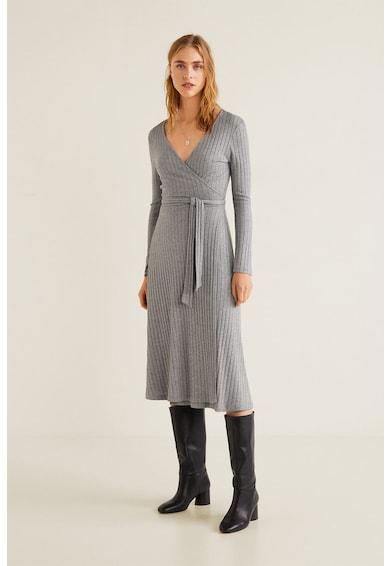64f6f4fcf8 Fama bordázott átlapolós ruha - Mango (41060839-94)
