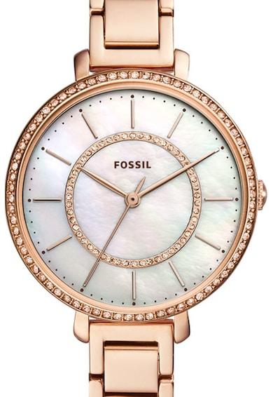 Fossil Кварцов часовник с метална верижка Жени