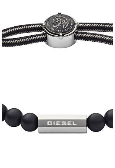 Diesel Bratara decorata cu perle agat Barbati