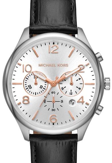Michael Kors Часовник Merrick с кожена каишка Мъже