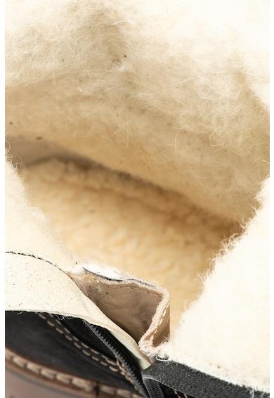 Tamaris Cizme joase de piele cu cusaturi contrastante Femei