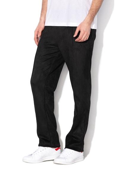 GUESS JEANS Nyersbőr hatású nadrág élvasalással férfi