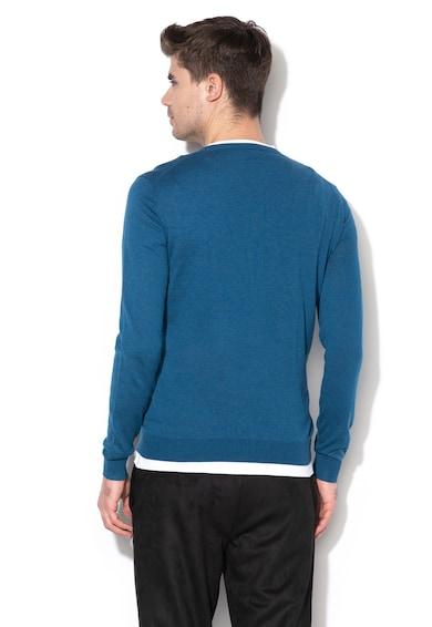 GUESS JEANS Фино плетен пуловер с лого Мъже