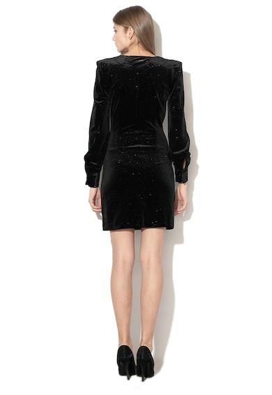 GUESS JEANS Кадифена къса рокля с бляскав ефект Жени
