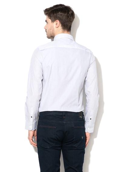 GUESS JEANS Риза по тялото със ситно райе Мъже