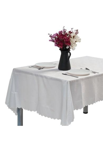 Heinner Home Fata de masa anti-pete Jacquard  100% Poliester, 140x240 cm, alb, model 02 Femei