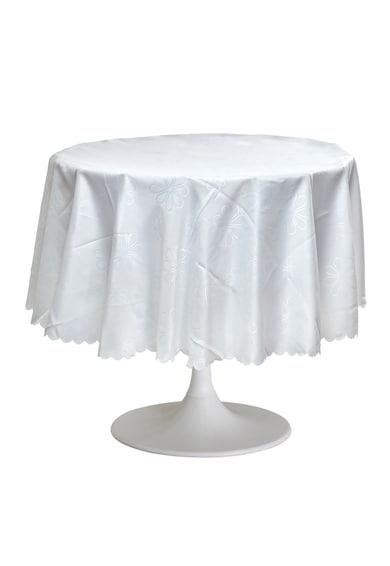 Heinner Home Fata de masa anti-pete Jacquard  100% Poliester, diametru 180 cm, alb, model 01 Femei