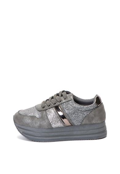 Xti Pantofi sport wedge cu insertii stralucitoare Femei