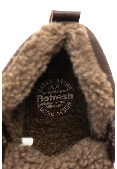 Refresh Ghete de piele ecologica cu captuseala de blana shearling sintetica Barbati