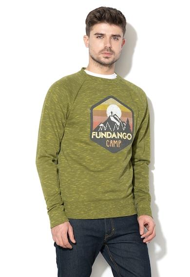 Fundango Суитшърт Eston с овално деколте и лого Мъже