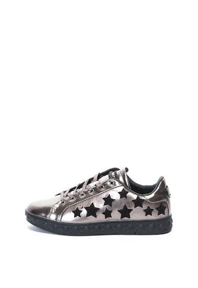 Enrico Coveri Pantofi sport cu decupaje in forma de stea Crawford Femei