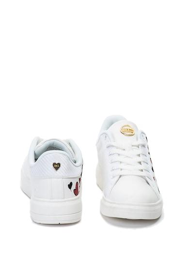 Enrico Coveri Taylor műbőr sneakers cipő hímzésekkel női