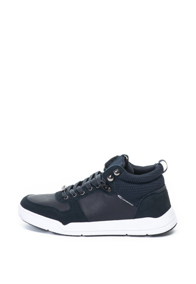 Enrico Coveri Pantofi sport mid-high cu insertii de piele intoarsa Burns Barbati