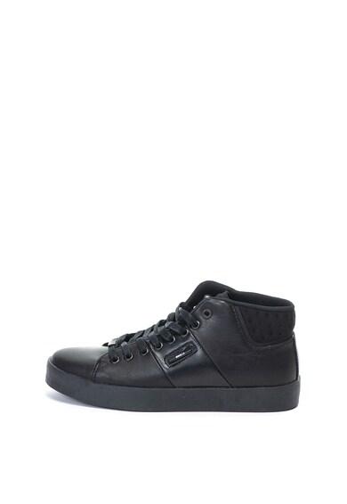 Enrico Coveri Pantofi sport mid-high de piele ecologica Thistle Barbati