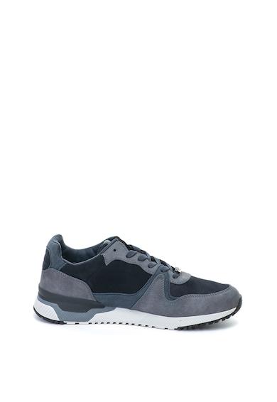 Enrico Coveri Pantofi sport de piele nabuc ecologica cu insertii de plasa Ames Barbati