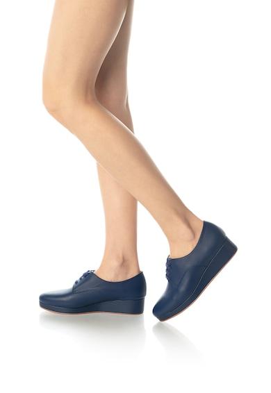 Zee Lane Кожени обувки Derby със скосена платформа Жени