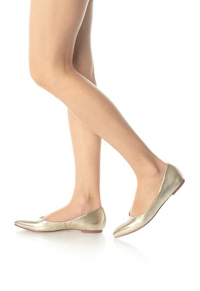 Zee Lane Balerini de piele cu aspect metalizat Femei